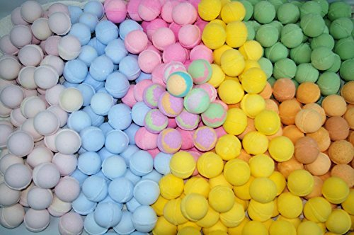 Bath Bombs 50 Pack 3.oz Individually Wrapped Assorted Colors and Scents