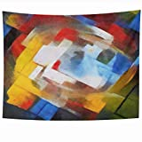 Wall Tapestries 80 x 60 Inches Abstract Geometric Picasso Oil Canvas Pastel Famous Georges Braque Matisse Van Home Decor Wall Hanging Tapestries Living Room Bedroom Dorm    Tapestry Features: *Material: Polyester fiber *Color: As pictured. *Shape:...