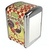 Le Coq en Pate Retro French Advertising Bistro Diner Napkin Dispenser