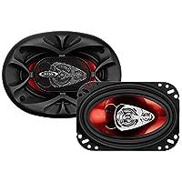 BOSS Audio CH4630 Altavoces para automóvil: 250 vatios de potencia por par y 125 vatios cada uno, 4 x 6 pulgadas, rango completo, 3 vías, vendido en pares, fácil montaje