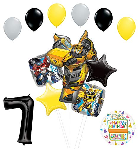 Transformers Mayflower Products Bumblebee 7th Birthday Party Supplies Balloon Bouquet Decorations -