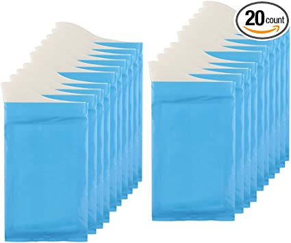 Hoedia 20 Pack Disposable Urinal Bags Unisex Urine Bags Vomit Bags for Travel Urinal Toilet Traffic Jam Emergency Camping Portable Pee Bags Urine Bag Pee Bags Car Toilet for Men Women Children