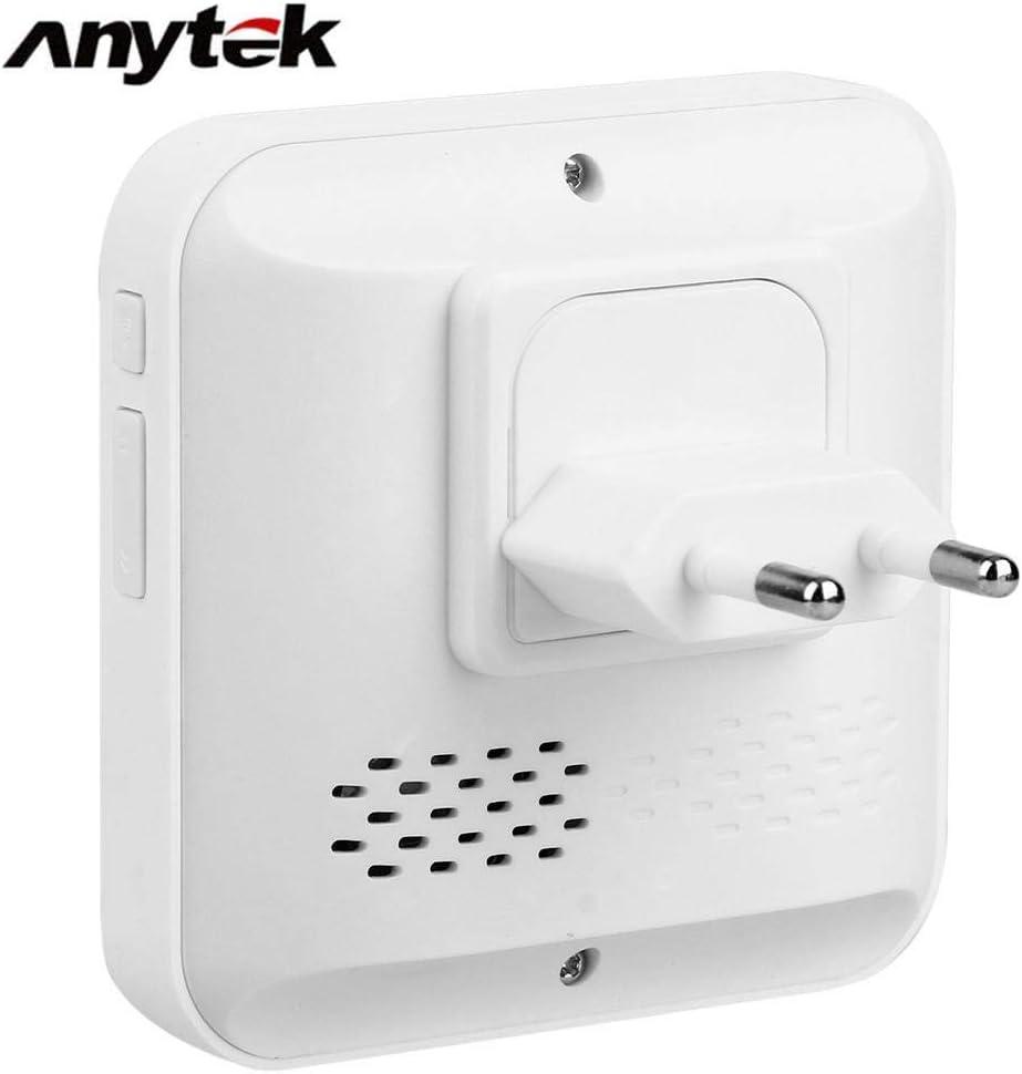 Smart Video Doorbell,Timbre Inalambrico Videoportero 720P HD Audio Bidirecciona con Timbre Chime Incluido Detecci/ón de Movimiento y Conexi/ón Wi-fi,Vision Nocturna For iOS//Android//Windows