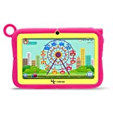 Yuntab Q88R 7 inch Kids Edition Tablet with Premium Parent Control iWawa Kids Software Pre-Installed, Android, Quad Core, 8 GB, WiFi, Dual Camera, Protecting Silicone Case (Rose)