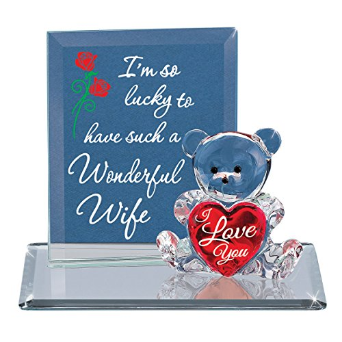 Goldia Glass Baron Bear I'm So Lucky - Wife Figurine