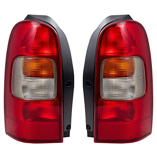 Driver and Passenger Taillights Tail Lamps Replacement for Chevrolet Oldsmobile Pontiac Van 10353279 19206746