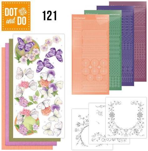 Hobbydots Dot and Do Butterflies /& Flowers NR121 Card Set