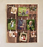 Clothespin photo collage on barn wood Review