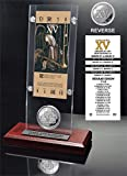 """NFL Oakland Raiders Super Bowl 15 Ticket & Game Coin Collection, 12"""" x 2"""" x 5"""", Black"""