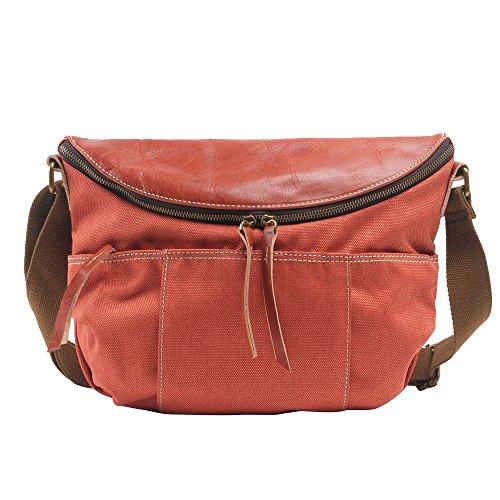 Shoulder Canvas Unisex Bags Design Contracted Orange Crossbody MITIAO Retro Leisure q0UEwxxpf