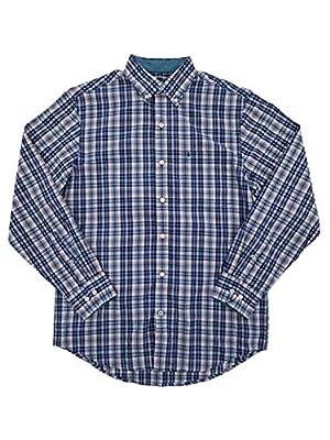 IZOD Men's Premium Performance Natural Stretch Plaid Long Sleeve Shirt