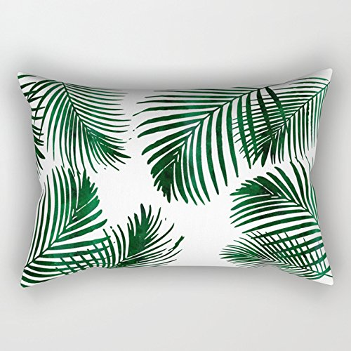 ymot101 Tropical Palm Leaf - Funda de cojín Rectangular de ...