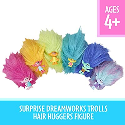DREAMWORKS TROLLS Hair Huggers Series 3 Toys, Surprise Collectibles, 6 Different Characters to Collect, for Kids 4 and Up: Toys & Games