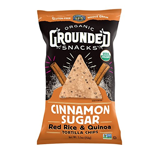 Lundberg Organic Grounded Snacks Cinnamon Sugar Red Rice & Quinoa Tortilla Chips, 5.5 Ounce (Pack of (Cinnamon Sugar Tortilla)