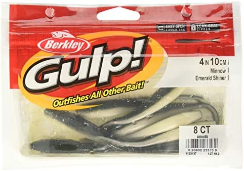"BERKLEY GULP - Pearl Silver 4/"" Minnow 8//Ct Pack"