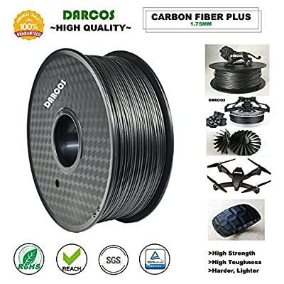 Darcos Hi Quality Hi Strenght, low shrinkage, more harder Carbon Fiber Plus 3d printing filament for 3d printer