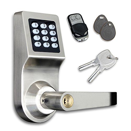 [WITH REMOTE CONTROL] Electronic Door Lock Keypad Keyless Smartcode Digital Home Security Lock (Door Lock Remote Control)