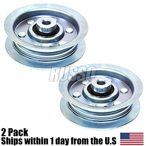 (2) Flat Idler Pulley Repl. 42