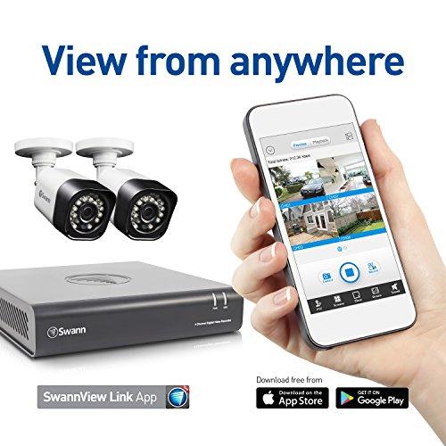 Swann SWDVK-4720P2-US DVR4-1580 720P / 500GB / 2 x Pro T835 Cameras  Expansive Surveillance DVR Kit, Black