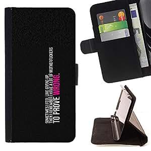 KingStore / Leather Etui en cuir / Apple Iphone 5C / Para demostrar que estoy equivocado
