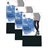 L'eggs Women`s Set of 3 L`eggs Casual Body Shaping Tights B, Black