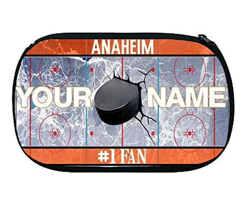 BRGiftShop Personalized Custom Name Hockey Team Anaheim Neoprene Makeup Cosmetic Bag