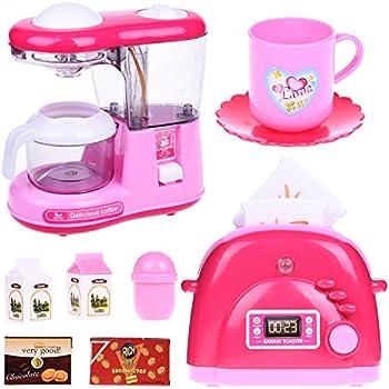 Amazon.com: FUN LITTLE TOYS Kids Kitchen Set for Girls, Play ...