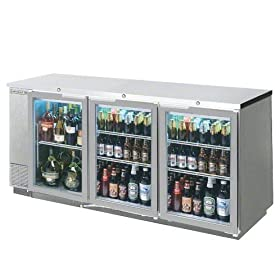 Beverage-Air Commercial Refrigeration 78″ Glass Door Back Bar Bb78G-1-S
