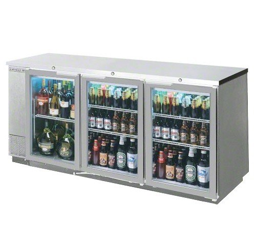 "Beverage-Air Commercial Refrigeration 78"" Glass Door Back Bar Bb78G-1-S"