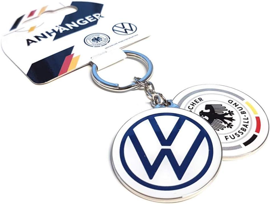 Volkswagen Z094740df Schlüsselanhänger Dfb Deutschland Fußball Fanartikel Wedrivefootball Anhänger Rund Auto