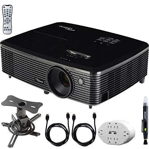 Optoma (HD143X) Full HD 1080p 3D DLP Home Theater Projector w/ Mount Bundle Includes, 6 Outlet Wall Tap w/ 2 USB Port + Low Profile Projector Mount + 2x HDMI Cable + LCD/Lens Cleaning Pen