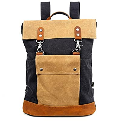 e00ff47dd6bc Travel Log Compass Backpack Genuine Canvas and Leather Bag 50%OFF ...
