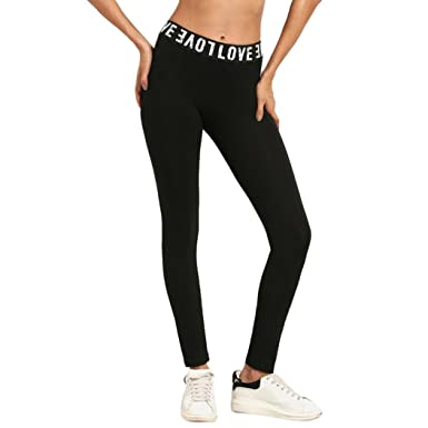df311cd8fae Longay Women Love Printing Slim Fit Workout Leggings Push up Compression  Pants Sports Exercise Tights Fitness