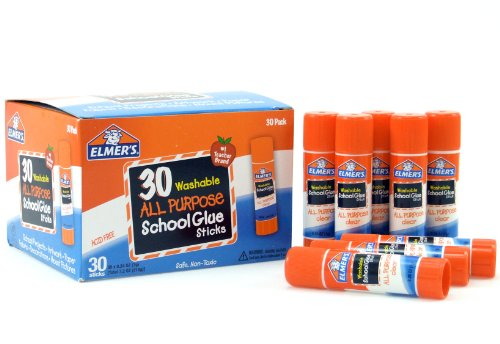 Best Seller in Kids' Arts & Crafts Adhesives Elmer's Washable All-Purpose School Glue Sticks, 0.24 oz, Pack of 30 (E556)