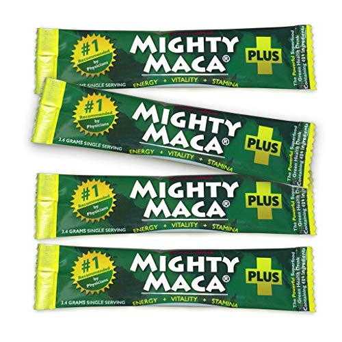 Mighty Maca Plus - Delicious, All-Natural, Organic Maca Superfoods Greens Drink, Allergen & Gluten Free, Vegan, Powder ... (4) ()