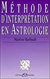 Méthode d'interprétation en astrologie