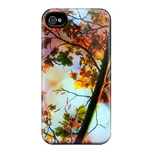 Durable Hard Cell-phone Cases For Apple Iphone 4/4s With Support Your Personal Customized High Resolution Magical Leaves Fall Pictures RobAmarook