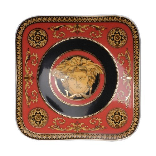Versace by Rosenthal Medusa Red Plate 5 1/2 -Inch, square (Rosenthal Medusa Red Gift)