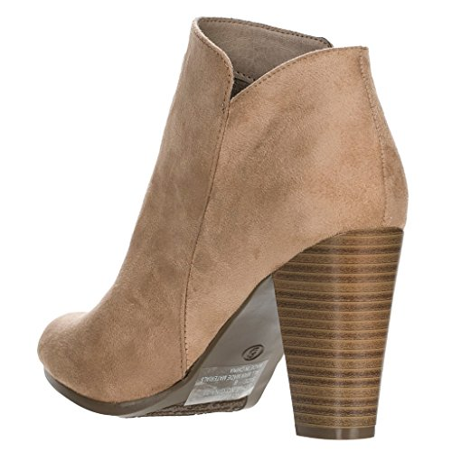 Women's Booties Ankle Suede Chunky 31 Heel Gina Natural Faux Breckelles qCRdq