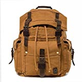 SLR Retro Men's Canvas Bag Men's Bag Western Wind Shoulder Bag Casual Men's Shoulders,A,One Size