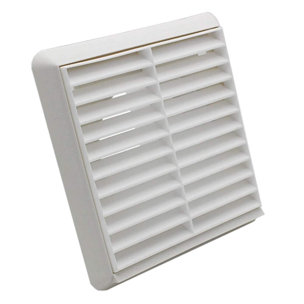 Plastic Louvre Extractor Fan Grill Grille Ventilation terracotta Wall Hydroponic
