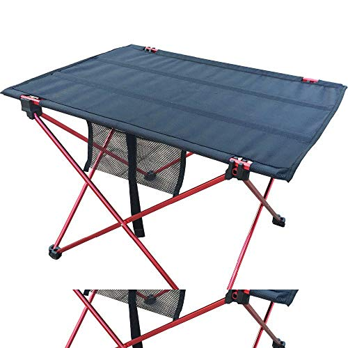 OTTAB Outdoor Picnic Table Camping Aluminium Alloy Picnic Table Waterproof Ultra-Light Durable Folding Table Desk for Picnic& Camping Red Small by OTTAB (Image #2)