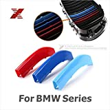 3 Colors ABS 3D M Car Styling Front Grille Trim Strips Cover Motorsport Stickers For BMW 3 4 5 X3 X4 X5 X6 F10 F18 F30 F35