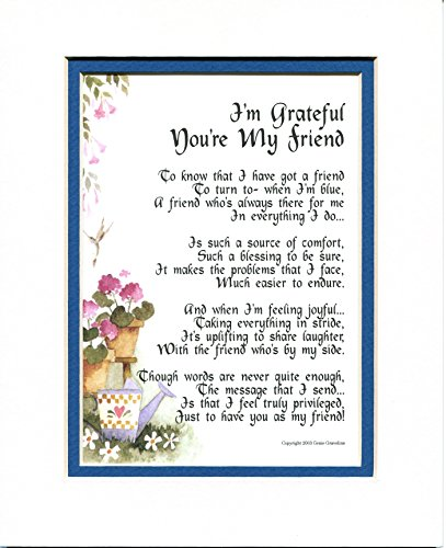 I'm Grateful You're My Friend, #151, Gift Poem 30th 40th 50th 60th 70th Birthday Present For A Special Friend.