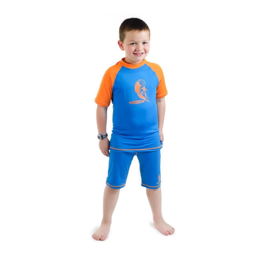 ed1240df1a Amazon.com : Swimfree Boys Size 2 Blue/Orange Sun UV Protective Rash Guard  Swimsuit Swim Shirt & Pants Spf+50 Swim Suit For Kids Age 2 Years Old :  Athletic ...