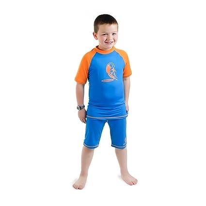 6bf727fabe Amazon.com : Swimfree Boys Size 2 Blue/Orange Sun UV Protective Rash ...