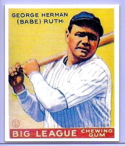 Amazoncom Babe Ruth 1933 Goudey Big League Chewing Gum