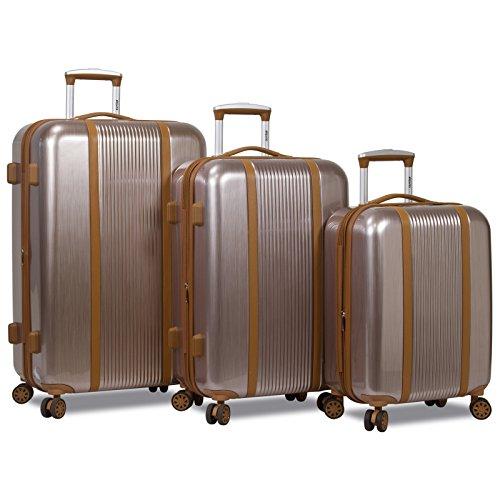 Dejuno Monroe 3-Piece Hardside Spinner TSA Lock Luggage Set - Rose Gold by Dejuno