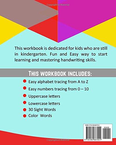 PRESCHOOL TRACING WORKBOOK: ALPHABET, 0-10 NUMBERS, 30 SIGHT WORDS ...