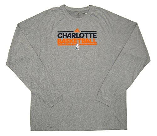 NBA Charlotte Bobcats Team Issued Long Sleeve adidas ClimaLite Training Shirt Size 3XLT - Gray